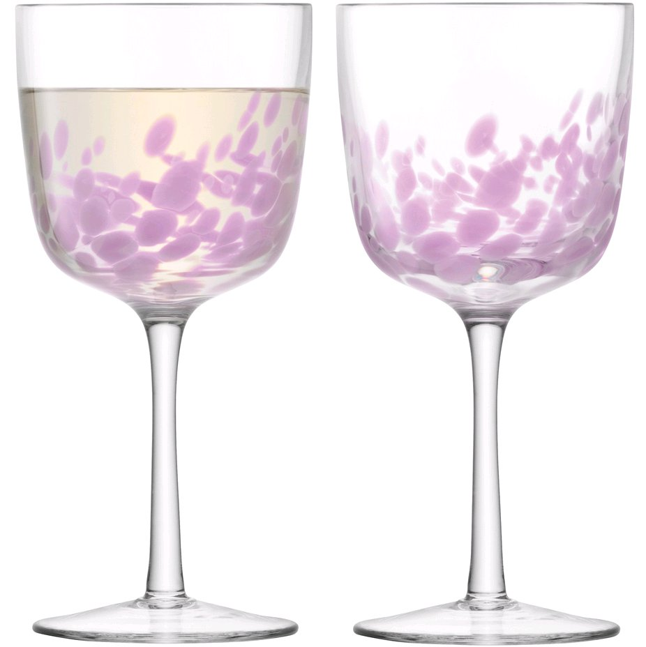 Verre Vin Rouge moderne Taches rose duo ou par 6