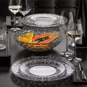 Service 2 Assiettes en cristal +24% plomb collection Bossa Nova