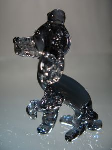 Grey Crystal Poodle Dog