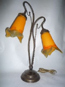 Lampe art nouveau Nancy 2 tulipes pointes