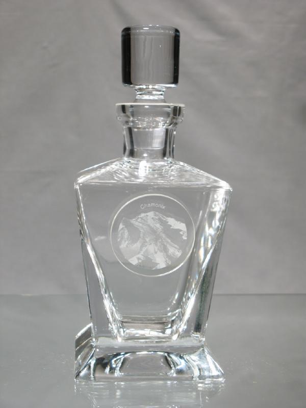 carafe en cristal carafe mont blanc carafe whisky chamonix. Black Bedroom Furniture Sets. Home Design Ideas