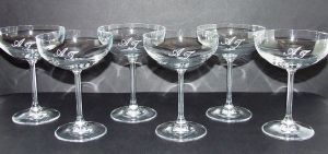 Coffret 6 Coupes à champagne en cristal collection Venise 20cl