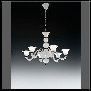 Lustre en Verre de Murano Voltolina Collection Canaletto 6 bras