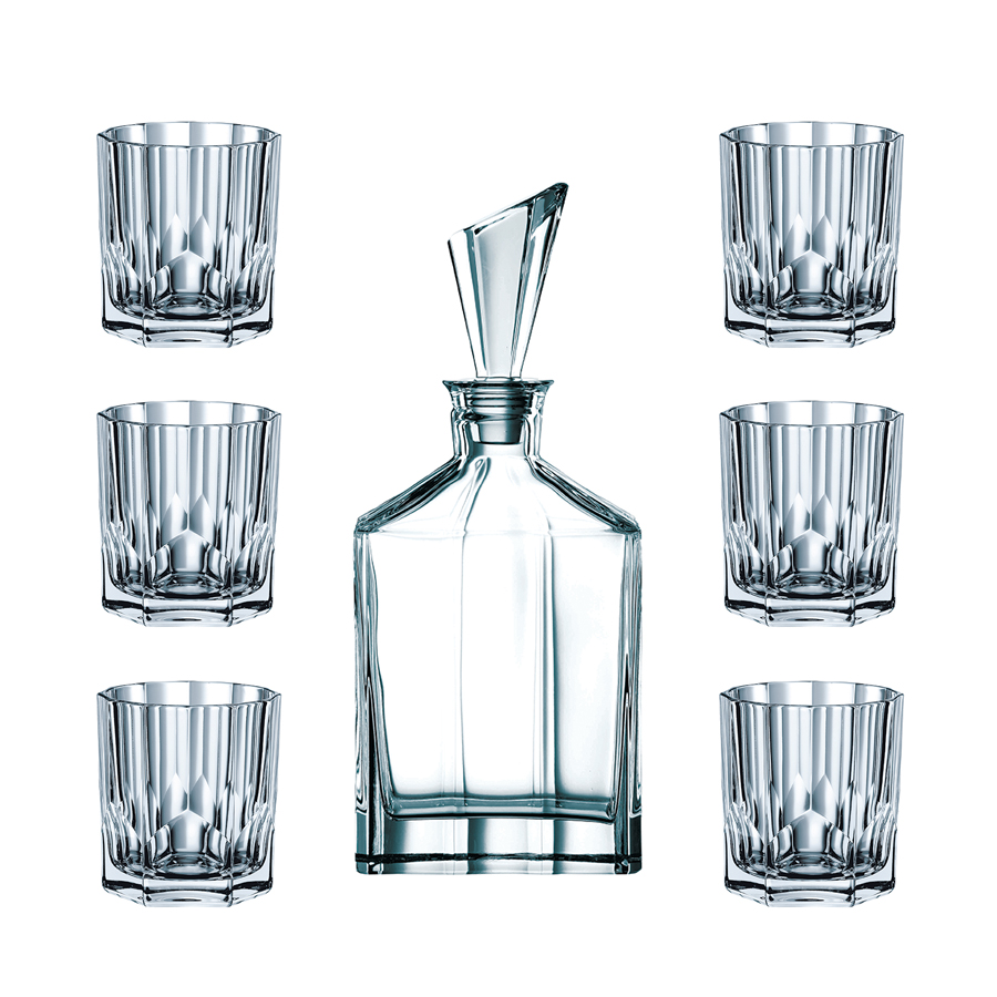 ensemble whisky cristal verres carafe whisky aspen. Black Bedroom Furniture Sets. Home Design Ideas