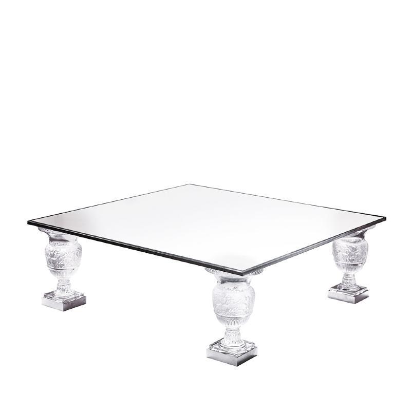 Table PiedsPlateau Incolore Lalique Cristal Modèle Basse Versailles4 PXwuTOkilZ