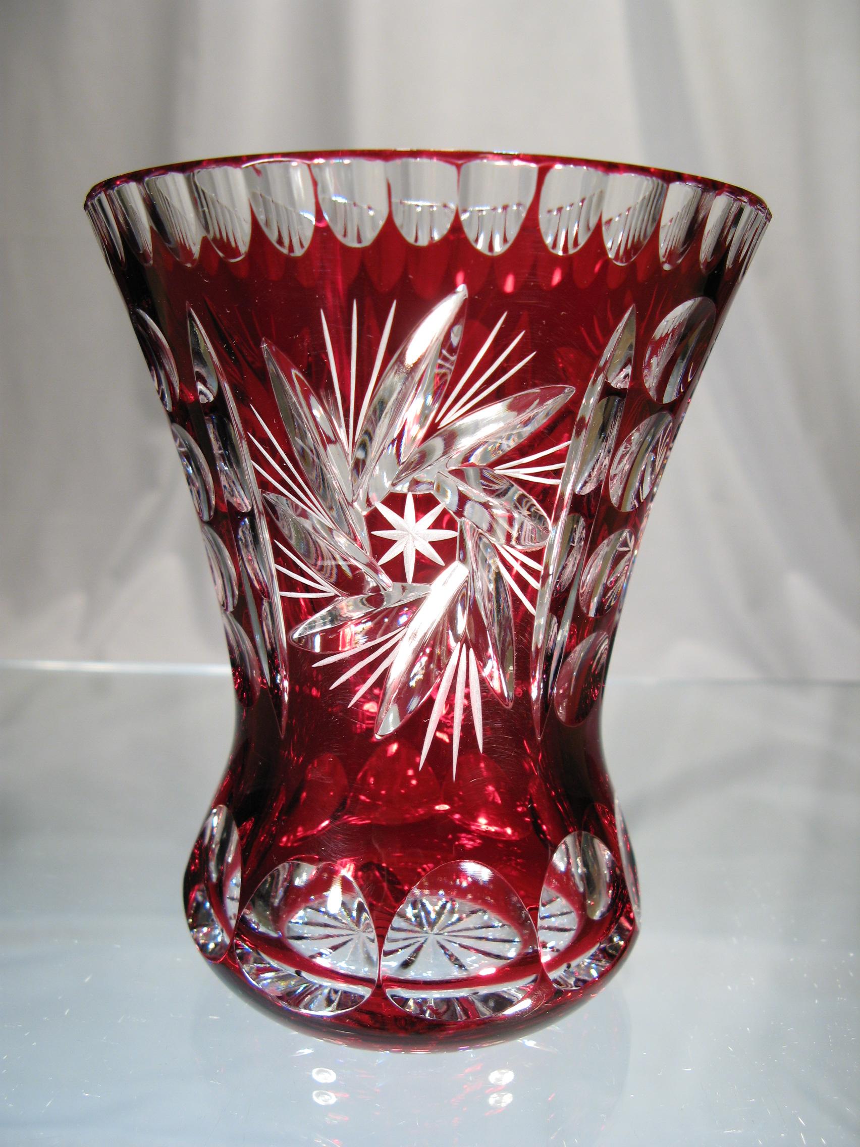Vase vase en cristal vase en cristal taille cristal - Cristal de baccarat prix ...