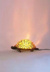Lampe tortue ambre lampe tortue bronze lampe animaux deco - Lampe chauffante tortue ...