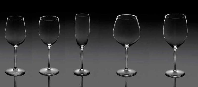 100 points Cristal Lalique Coffret 2 Verre à vin Universel