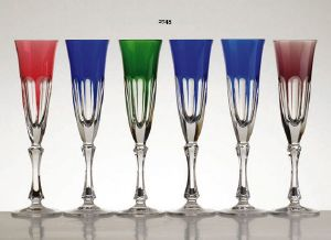 Collection Rome: Verres cristal 6 couleurs