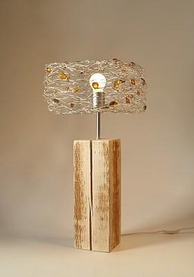 Lampe bois ambre ambiance lampe moderne bois lampe ambre et bois - Lampe moderne salon ...