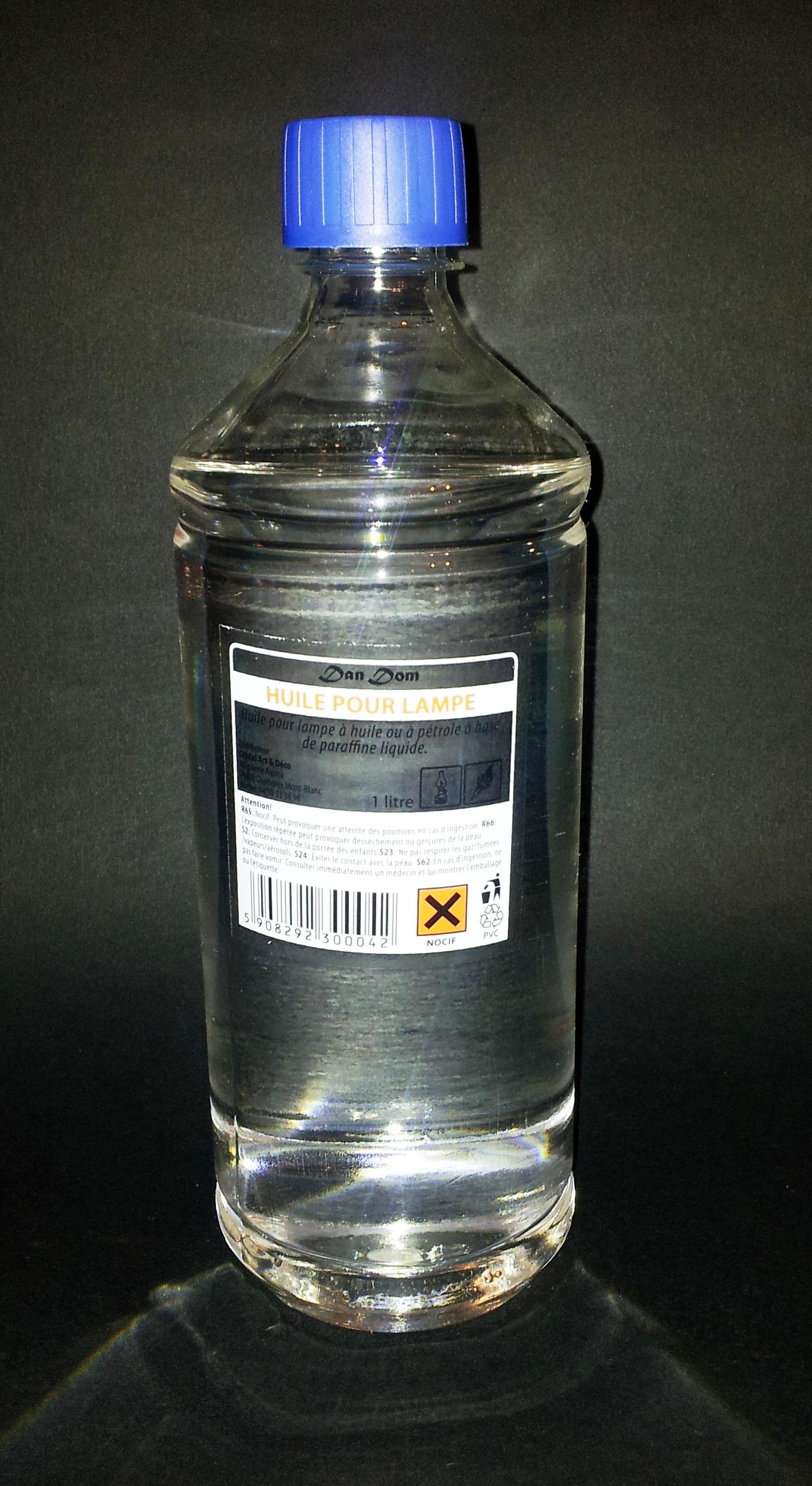 Huile pour lampe à huile neutre transparente 05l lot 4 bouteilles 1