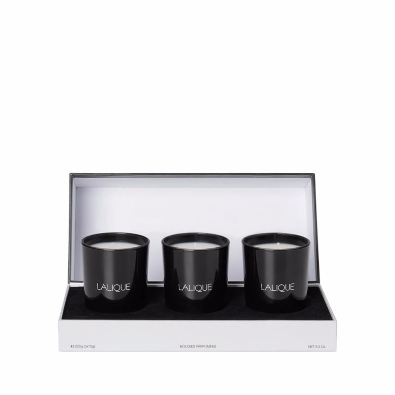 coffret bougie lalique secret d 39 asie 3 bougies lalique. Black Bedroom Furniture Sets. Home Design Ideas