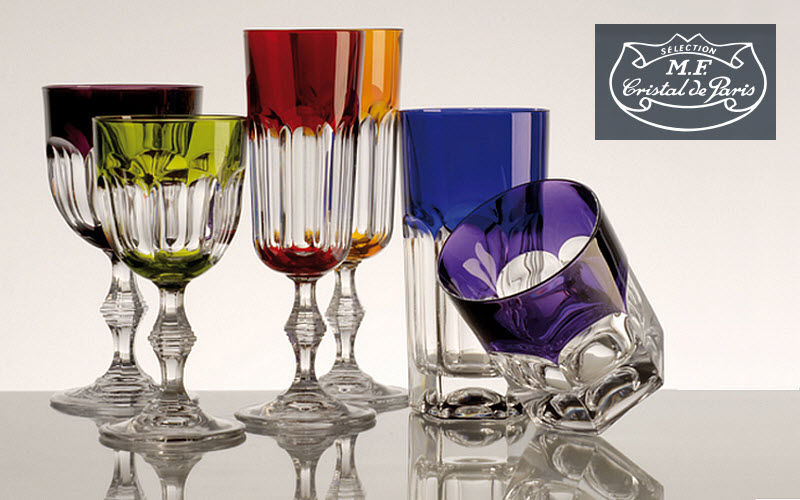 Cristal de Paris : Coffret 6 verres cristal couleur collection Nicole