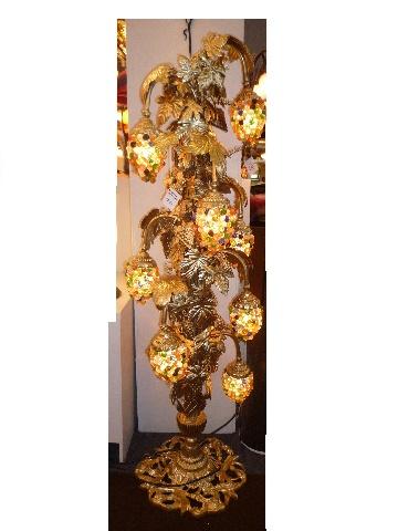 Lampadaire art nouveau lampadaire en verre couleur - Lampadaire fer forge interieur ...