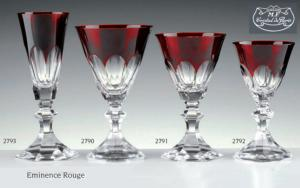 Cristal de Paris : Coffret 6 verres collection Eminence rouge