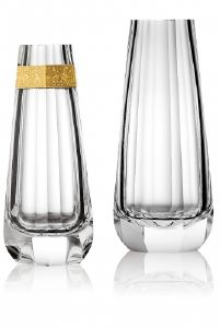 Vase Cristal Moser Sensitiv Transparent ou Filet doré
