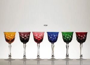 Collection Moscou: Verres Roêmer cristal 6 couleurs