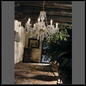 Lustre Chandelier Cristal Murano Voltolina Collection Serenade