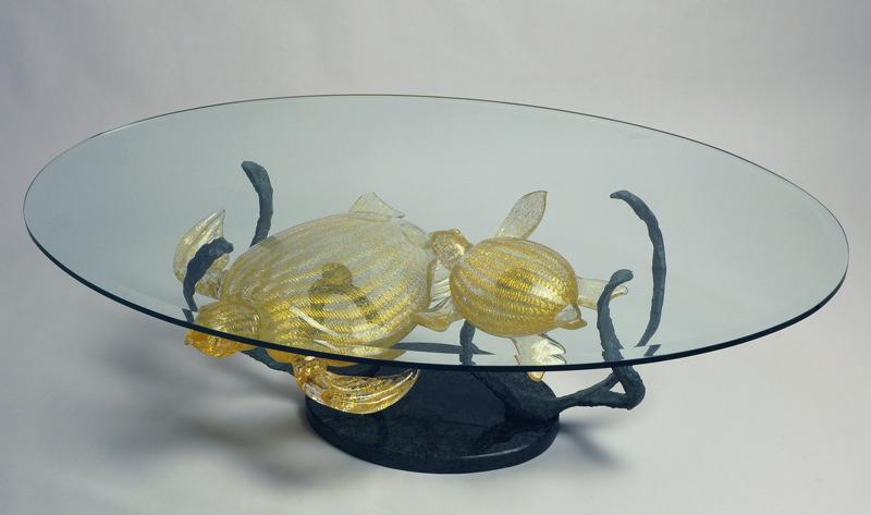 table murano tortue cristalartdeco table murano tortue. Black Bedroom Furniture Sets. Home Design Ideas