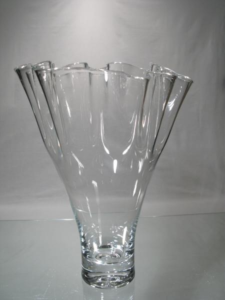 Vase Uni Cristal Vase Eventail Bouquet Compose Vase Evantail