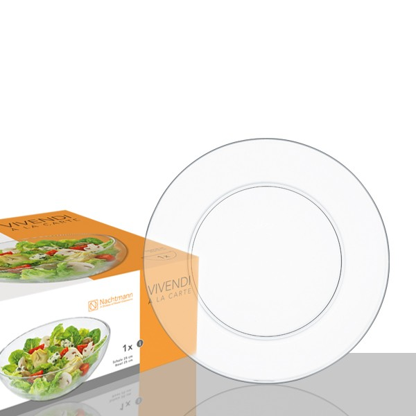 2 Assiettes plates en cristallin collection Vivendi 20cm