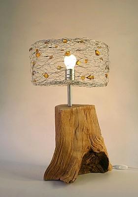 lampe tronc arbre lampe moderne bois lampe ambre et bois. Black Bedroom Furniture Sets. Home Design Ideas