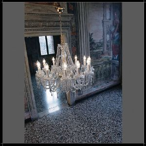 Lustre Chandelier Cristal Murano Voltolina Collection Alicante