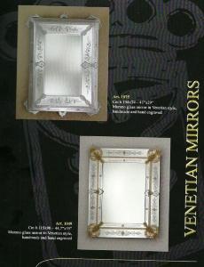 Miroir venitien cristal authentique miroir venise for Miroir bordure doree