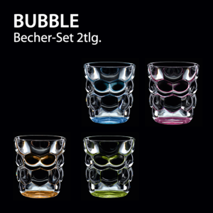 Verres à eau multi-usage Bubbles Vert en cristallin ( lot de 2 )