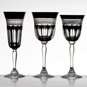 Cristal de Paris : Coffret 6 verres cristal noir collection Penombre
