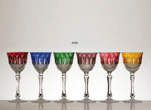 Collection Paris: Verres à vin du Rhin Roêmer en cristal 6 couleurs