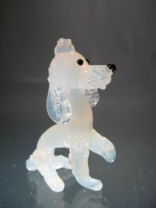 White Crystal Poodle Dog