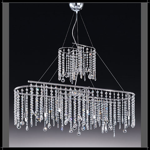 lustre cascade cristal voltolina lampe cristal moderne. Black Bedroom Furniture Sets. Home Design Ideas