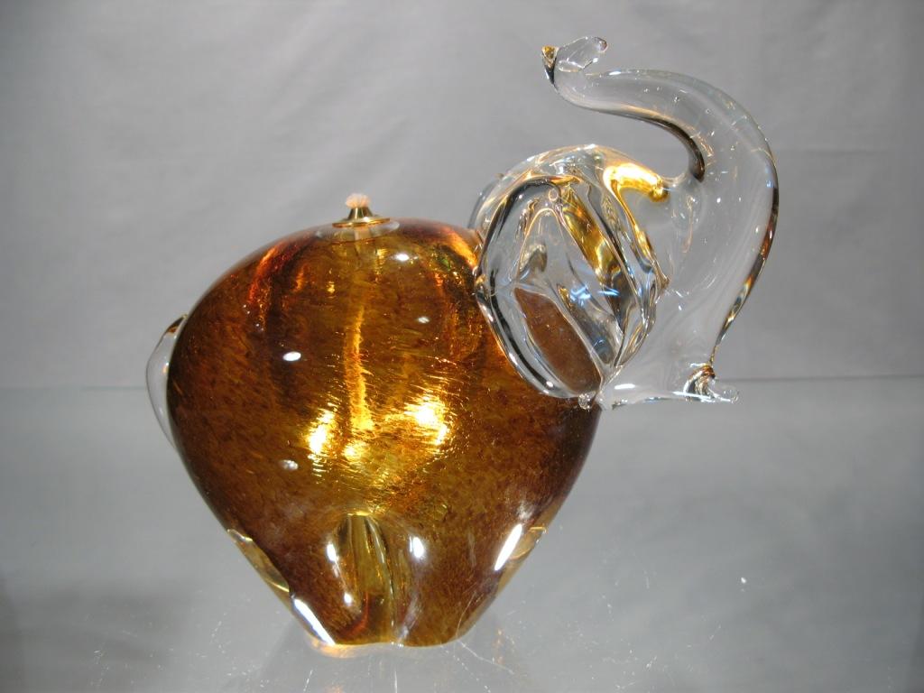 Lampe à huile éléphant