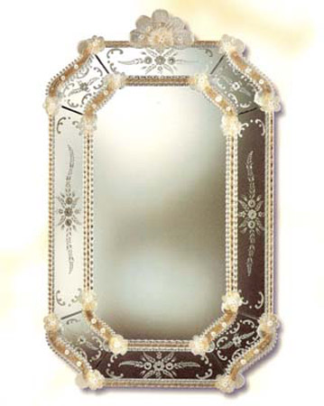Mirroir venitien venexiart cristal art deco mirroir for Miroir venitien