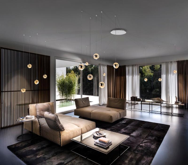 suspension boule spider luminaire moderne studio italia suspension moderne spider. Black Bedroom Furniture Sets. Home Design Ideas