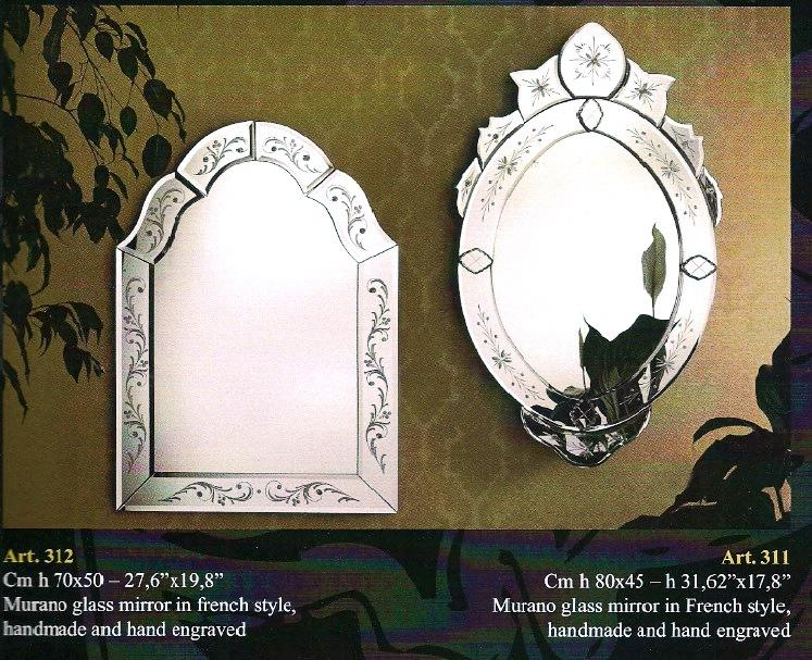Miroir venitien ovale rectangulaire cristal art deco for Miroir venitien