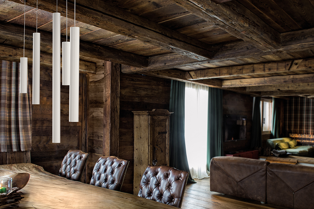 Luminaire Suspension Murano Studio Italia modele Tube