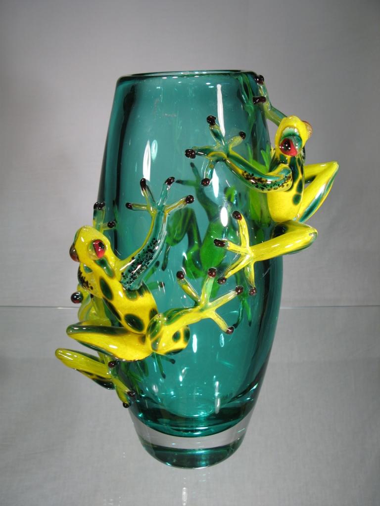 verre murano vase murano vase grenouilles. Black Bedroom Furniture Sets. Home Design Ideas
