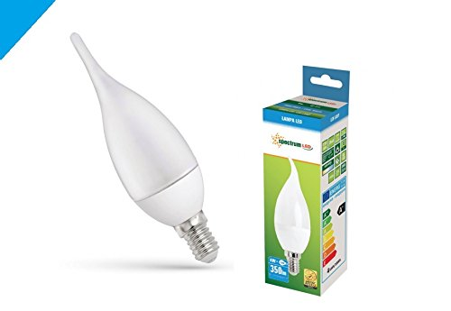 Ampoule led décorative E14 flamme 4 watts ( lot de 5 ) blanc froid