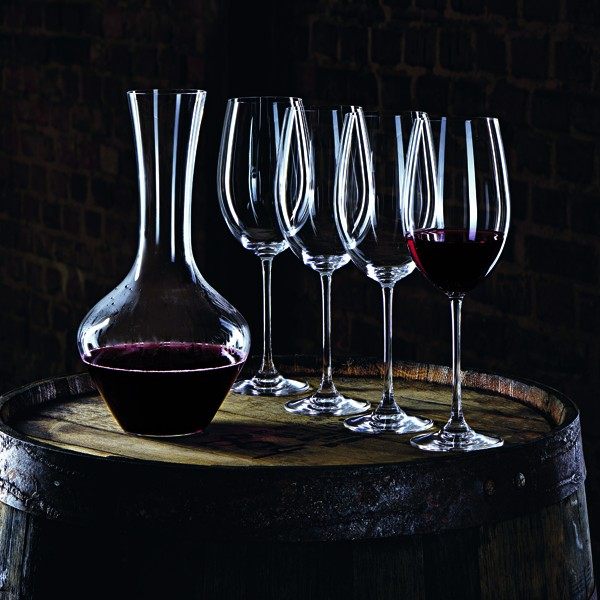 Carafe + 4 verres vin bordeaux en cristallin collection Vivendi