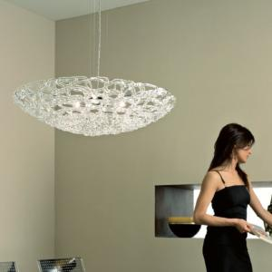 Luminaire Suspension Verre Murano Artic 60 cm