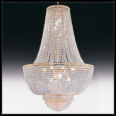 Lustre Mongolfiere Cristal Murano Voltolina Collection Settat