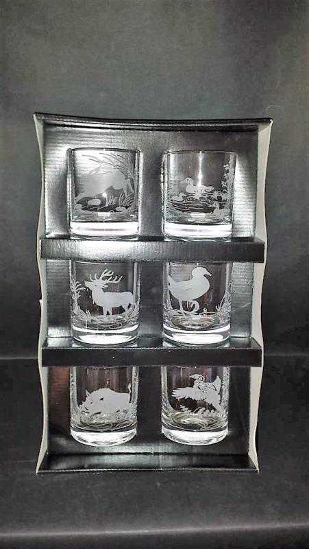 verre whisky chasse verre aperitif animaux coffret verre chasse. Black Bedroom Furniture Sets. Home Design Ideas