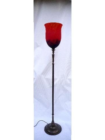 lampadaire art nouveau lampadaire cloche rouge lampadaire ancien muller. Black Bedroom Furniture Sets. Home Design Ideas