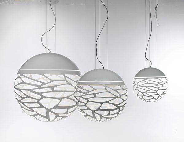 Luminaire kelly sphere suspension moderne boule kelly for Modele luminaire suspension