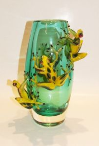 Vase aux 4 grenouilles Africaines Murano