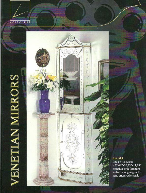 Buffet armoire cristal murano meuble miroir cristal for Miroir venitien murano