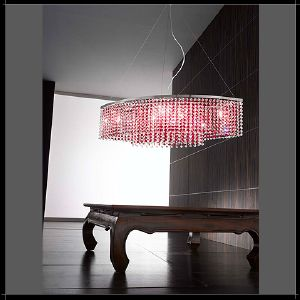 Lustre Cristal Murano Voltolina Collection Rainbow Ovale