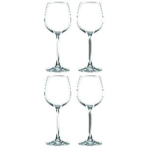 Coffret 4 Verres à vin blanc / Vin rouge en cristallin collection Vivendi